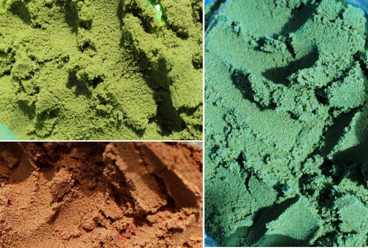 Namuose nuspalvintas smėlis