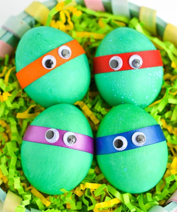 Dyed-TMNT-Easter-Eggs