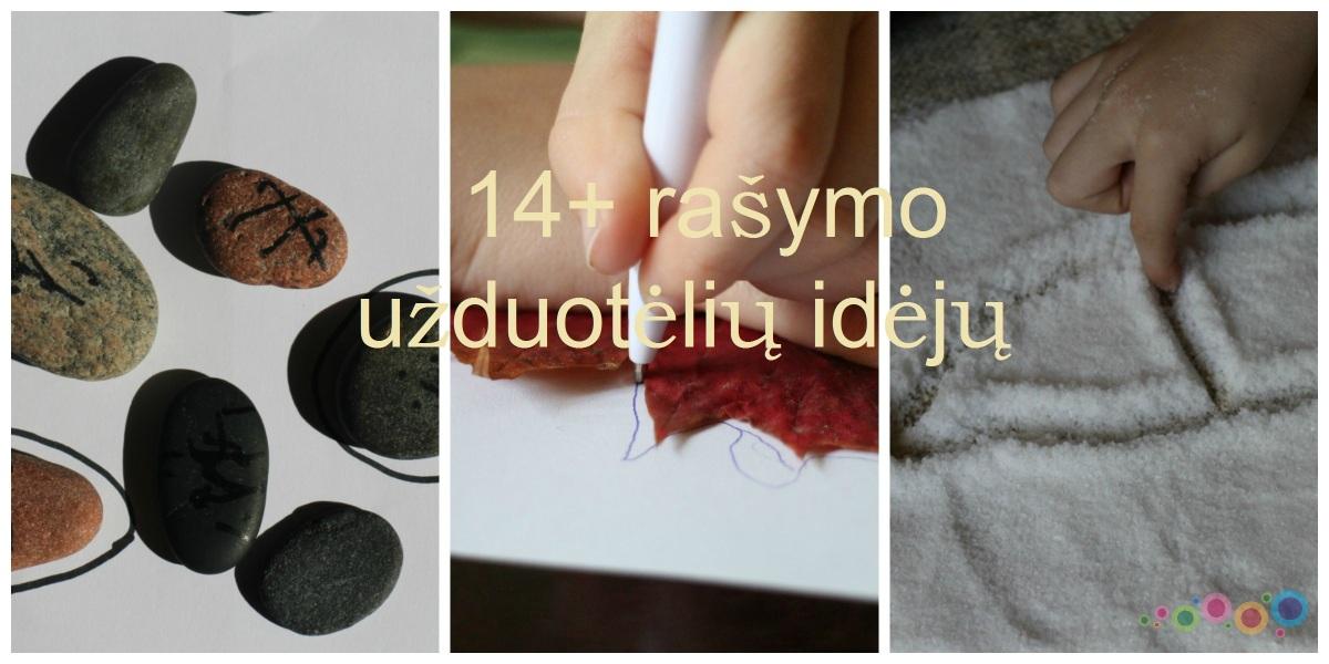 14+ rašymo užduotėlių idėjų