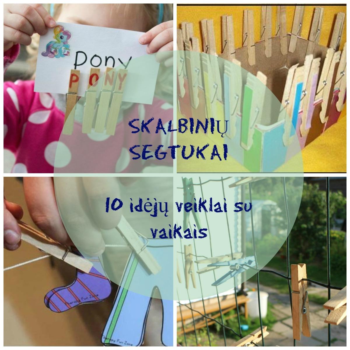 Skalbinių segtukai: 10 idėjų veiklai su vaikais