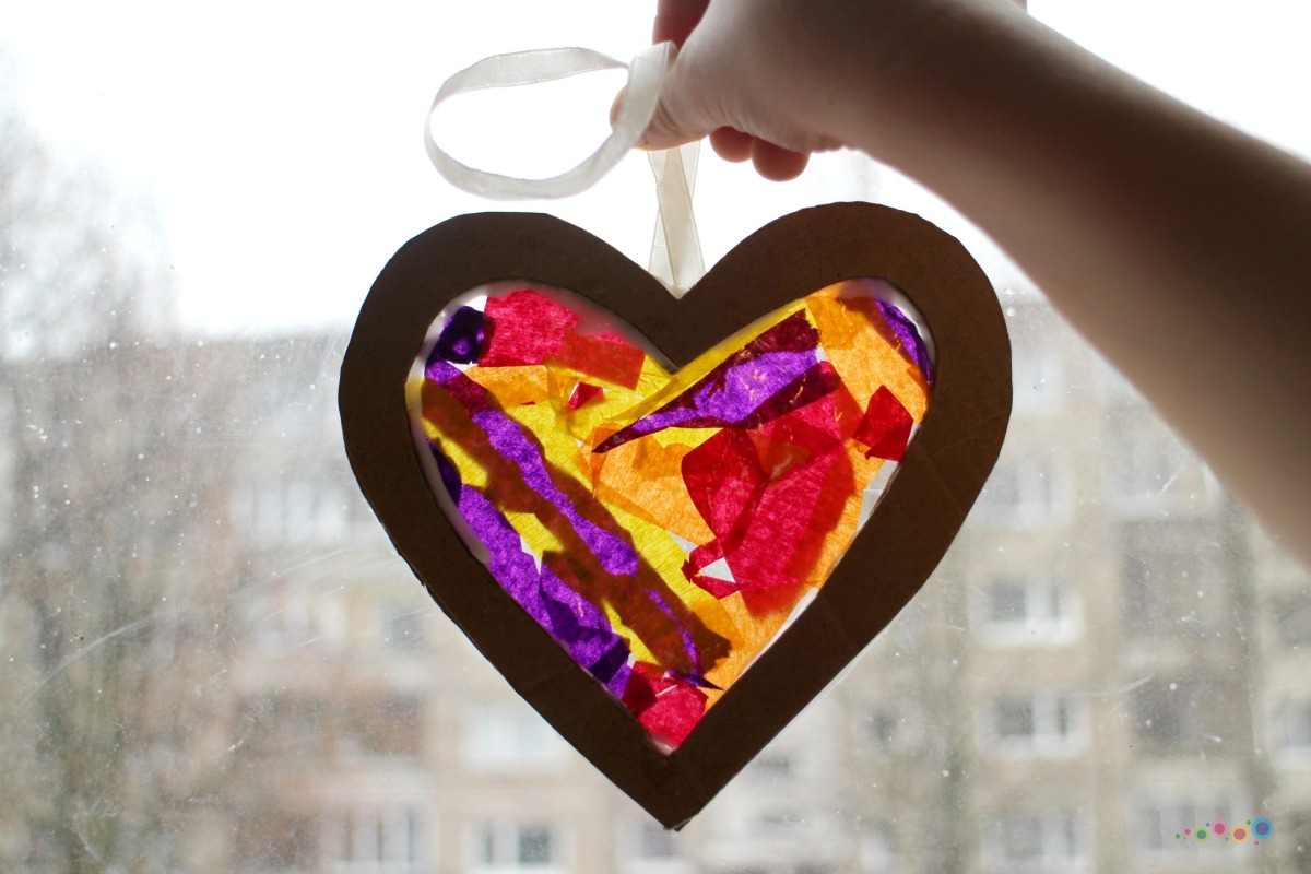 Vitražinė širdelė
