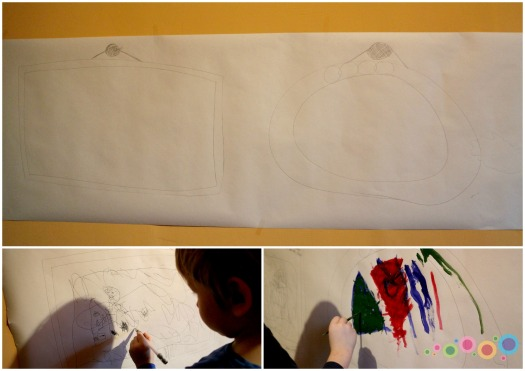 su vaikais.popierius ant sienos.jpg